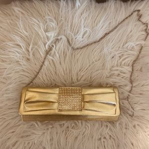 Handbags - Gold Clutch!